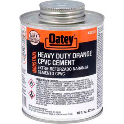 Oatey EP42 CPVC-PVC HD Orange Industrial Cement 32 oz. - Pkg Qty 12