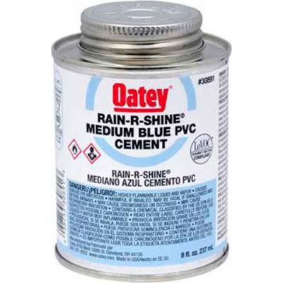 Oatey 30895 PVC Rain-R-Shine Blue Cement Wide Mouth Can 1 Gallon - Pkg Qty 6