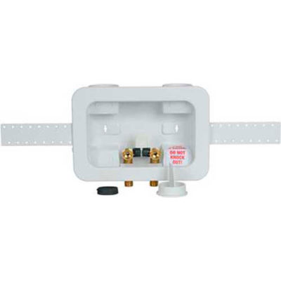 Oatey 38201 2X4 Washing Machine Outlet Box 1/4 Turn, Copper, Assembled - Pkg Qty 12