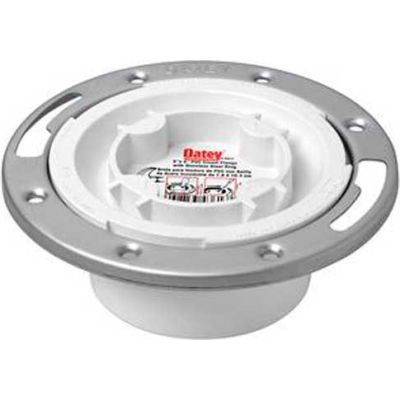 """Oatey 43559 3"""" or 4"""" PVC Easy Tap Closet Flange with Metal Ring - Pkg Qty 12"""