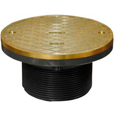 "Oatey 74130 Plastic Barrel Cleanout 6"" IPS Adjustable Barrel & 6"" Round Brass Cover & Ring"