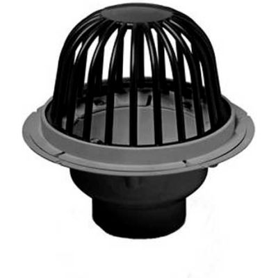 """Oatey 78034 4"""" PVC Roof Drain with ABS Dome & Dam Collar"""