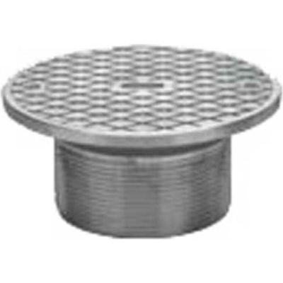 "Oatey 84220 6"" Cast Nickel Round Barrel w/Cleanout & Round Nickel Cover"