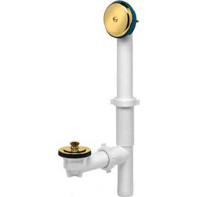 Dearborn Brass A8227 Plastic Tubular Uni-Lift Bath Waste Full Kit Black Uni-Lift Stopper Chr Finish - Pkg Qty 10