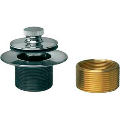 Dearborn Brass K28 Bath Watse Conversion Kit, Two-Hole Cover Plate, Uni-Lift Stp Chr Finish Trim - Pkg Qty 2