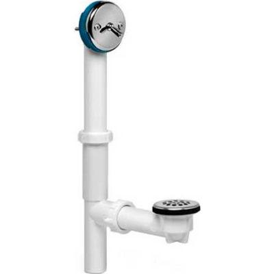 Dearborn Brass P9226 Plastic Tubular Trip-Lever Bath Waste Uni-Lift Full Kit Wht Stopper Chr. Finish - Pkg Qty 10