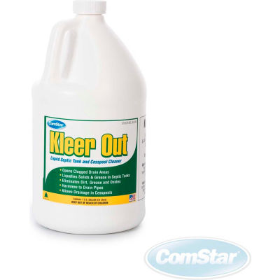 Comstar Kleer-Out™ Septic Tank & Cesspool Cleaner, Gallon Bottle, 4 Bottles - 30-245 - Pkg Qty 4