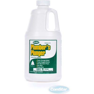 Plumbers Plunger™ Plumbers Plunger™ Liquid Drain Opener, 1/2 Gallon, 6 Bt - 30-710 - Pkg Qty 6