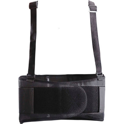 Occunomix 611-066 Classic MUSTANG Back Support w/ Suspenders Black, 2XL