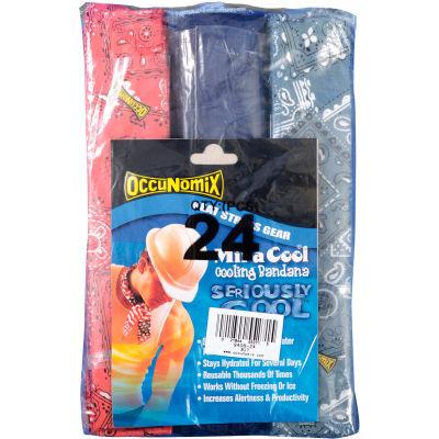 MiraCool® Bandana Assorted Colors 24 Pack No Header Card, 940B-24