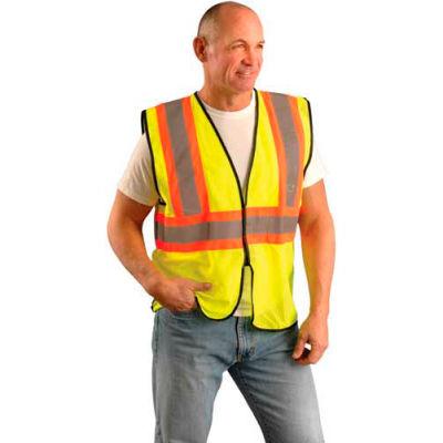OccuNomix Value Mesh Two Tone Hi-Vis Vest, Class 2, Hi-Vis Yellow, L/ XL, ECO-GC2T-YL/XL