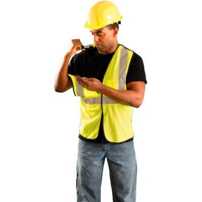 OccuNomix Value Mesh 5-Pt. Break-Away Vest Hi-Vis Yellow 2/3 XL, ECO-GCB-Y2/3X