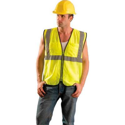 OccuNomix Value Mesh Surveyor Vest, Class 2, Hi-Vis Yellow, L/ XL, ECO-GCS-YL/XL