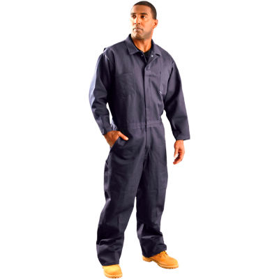 OccuNomix Classic Indura Flame Resistant Coverall Navy, M, G909INB-M