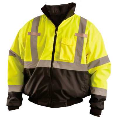 OccuNomix Class 3 Three-Way Bomber Jacket W/ Removable Liner Yellow/Black, 2XL, LUX-ETJBJR-BY2X