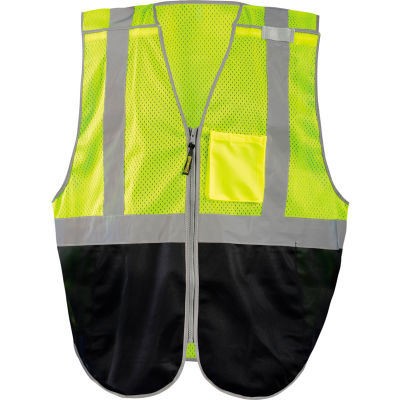 Occunomix LUX-GCBBK-YS Break-Away Vest, Mesh, Class 2, Black Bottom, S