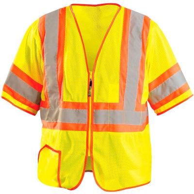 OccuNomix Class 3 Classic Mesh Half Sleeve Vest, Class 3, Hi-Vis Yellow, 3XL, LUX-HSCLC3Z-Y3X