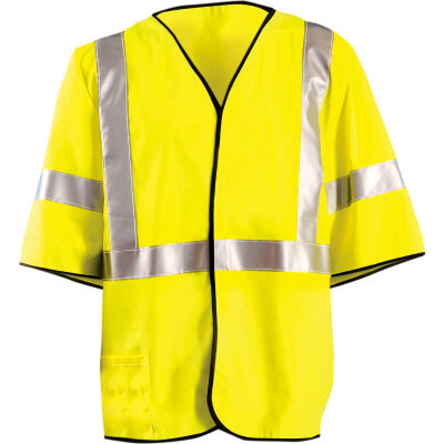 OccuNomix Class 3 Flame Resistant Single Stripe Solid Vest Yellow, 5XL, LUX-HSG3FR-Y5X