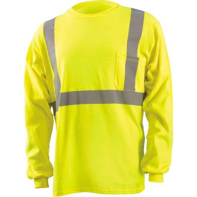 Classic Flame Resistant Long Sleeve T-Shirt, Hi-Vis Yellow, XL