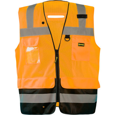 Occunomix LUX-LTGCSBK-O2X Lux Lite Break-Away Surveyor Vest, Class 2, Type R, Orange, 2XL