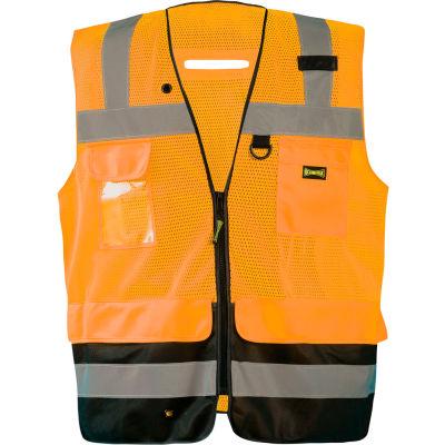 Occunomix LUX-LTGCSBK-OS Lux Lite Break-Away Surveyor Vest, Class 2, Type R, Orange, S