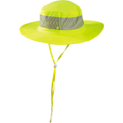 OccuNomix Wicking & Cooling Ranger Hat With Sunglasses Holder Hi-Vis Yellow, XL, TD600-XL