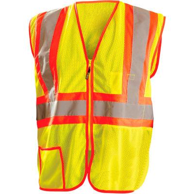 OccuNomix Classic Mesh Two-Tone Vest, Class 2, Hi-Vis Yellow, Class 2, 5XL, LUX-SSCLC2Z-Y5X