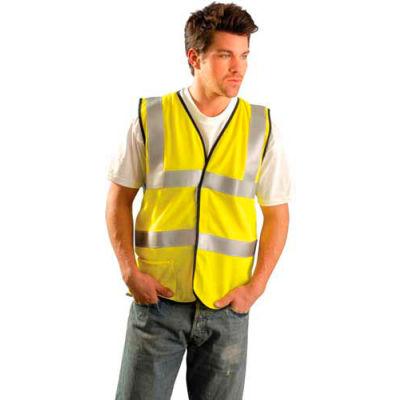 Occunomix Hi-Viz Yellow Class 2  Mesh Safety Vest  SSGC  4X//5X