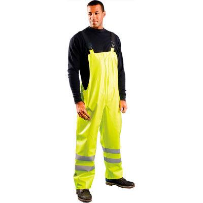 OccuNomix Class E Premium Flame Resistant Rain Bib Pants HRC2 Yellow, XL, LUX-TBIB/FR-YXL