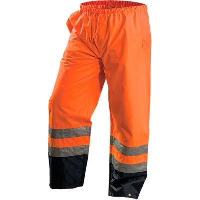 OccuNomix Premium Breathable Pants, Class E, Waterproof, Hi-Vis Orange, L, LUX-TENR-OL