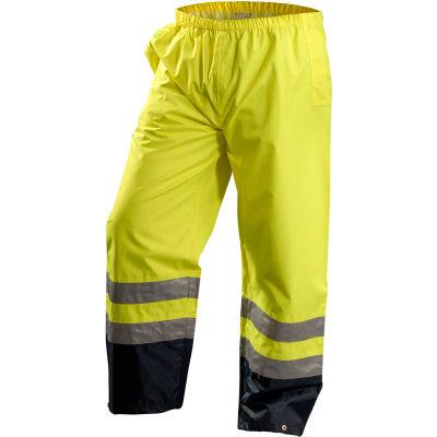 OccuNomix Premium Breathable Pants, Class E, Waterproof, Hi-Vis Yellow, XL, LUX-TENR-YXL
