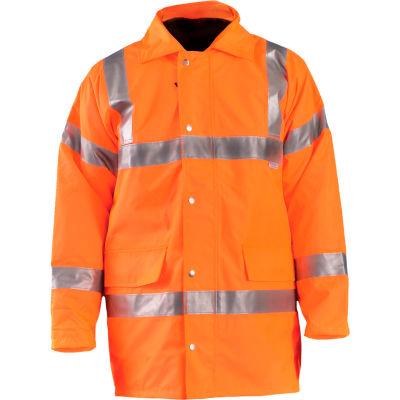OccuNomix Premium 5-In-1 Parka, Class 3, Hi-Vis Orange, L, LUX-TJFS-OL