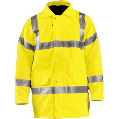 OccuNomix Premium 5-In-1 Parka, Class 3, Hi-Vis Yellow, L, LUX-TJFS-YL