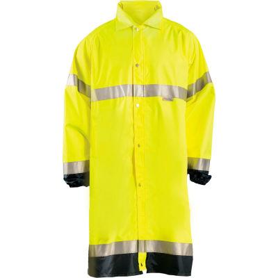 OccuNomix Premium Breathable Raincoat Hi-Vis Yellow, 5XL, LUX-TJRE-Y5X