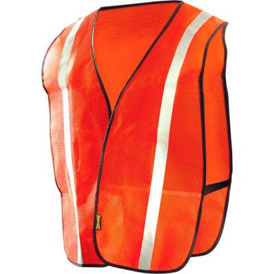 OccuNomix Value Mesh Silver Bead Vest Hi-Vis Orange, 4XL, LUX-XSBM-O4X