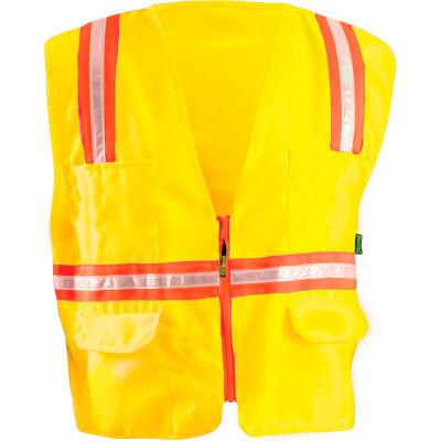 OccuNomix Classic Mesh Two-Tone Zip Vest Hi-Vis Yellow, 5XL, LUX-XTRNSM-Y5X