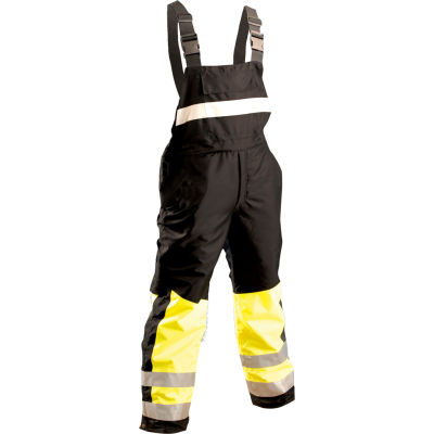 OccuNomix Speed Collection Premium Cold Weather Bib Pants Hi-Viz Yellow, XL, SP-BIB-BYXL
