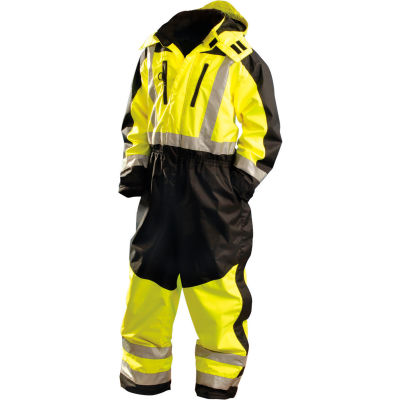 OccuNomix Speed Collection Premium Cold Weather Coverall Hi-Viz Yellow, 3XL, SP-CVL-BY3X