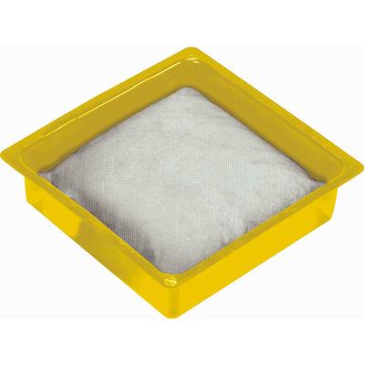 """Oil-Dri® Universal Drip Pan & Pillows, 10"""" x 10"""", 12 Gal. Capacity, 24 Pillows/12 Drip Pans"""