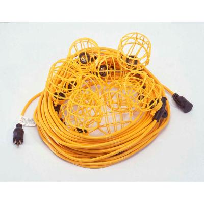 CEP 95135, 50' 12/3 STW String Light, Plastic Guards, 5 sockets