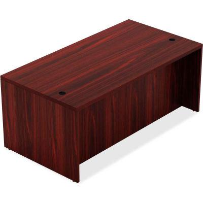 "Lorell® Wood Desk - 70.9"" x 35.4"" x 30"" Desk - Mahogany - Chateau Series"