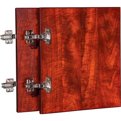 "Lorell® Door Kit for Hutch - 16.6"" x 16"" x 0.8"" - Cherry - Essentials Series"