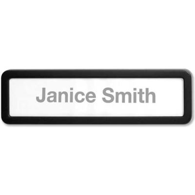Lorell Cubicle Nameplate Black