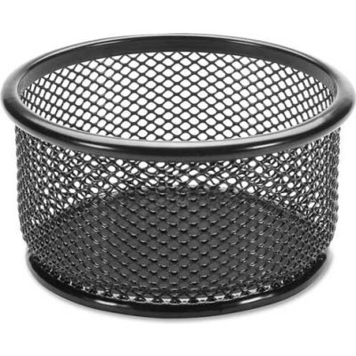 "Lorell® Mesh Paper Clip Holder 3-3/4"" x 3-3/4"" Black"