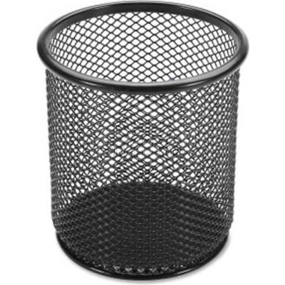 Lorell® Mesh Pencil Cup Holder, Black