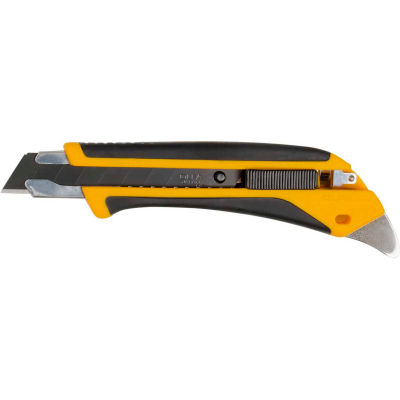 OLFA® LA-X Fiberglass Rubber Grip Utility Knife - Black/Yellow