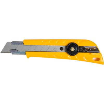 OLFA® L-1 Pistol Grip Ratchet-Lock Utility Knife - Yellow