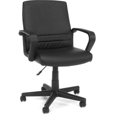 Essentials by OFM E1008 Mid Back Executive Chair, Black