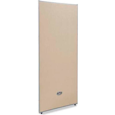 """OFM Core Collection RiZe Series 63"""" x 25"""" All Vinyl Floor Panel, Beige with Gray Frame (P6325-GF-BV)"""
