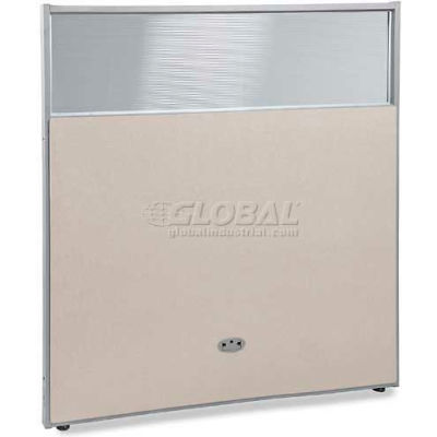 """OFM RiZe Series 63"""" x 60"""" Vinyl Floor Panel with Translucent Polycarbonate Top, Beige w/ Gray Frame"""